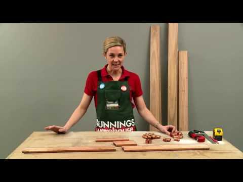 How To Make A D.I.Y. Brass Firewood Rack - D.I.Y. At Bunnings
