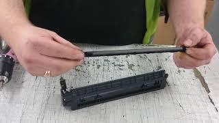 How to refill HP CF283A toner cartridge