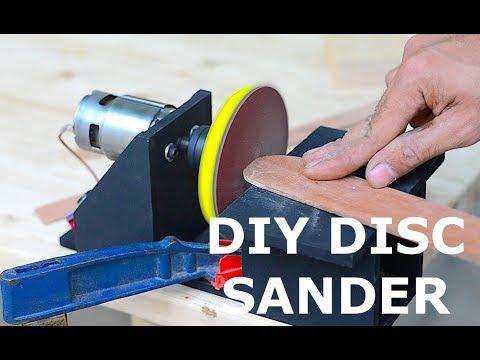 Homemade Cordless Disc Sander using Old Laptop Battery