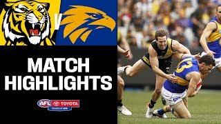 Clash of the titans | Richmond v West Coast Highlights | Round 22, 2019 | AFL