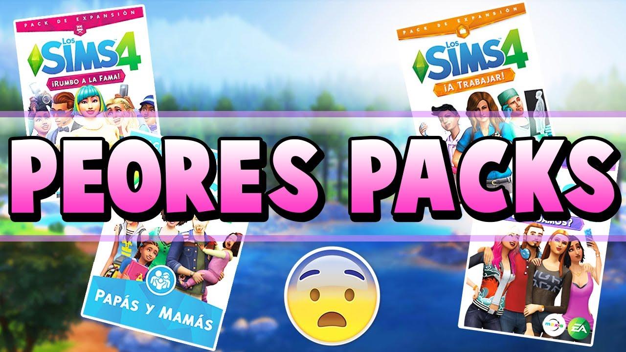 Cuales Son Las Peores Expansiones Y Packs De Los Sims 4 Ranking Youtube