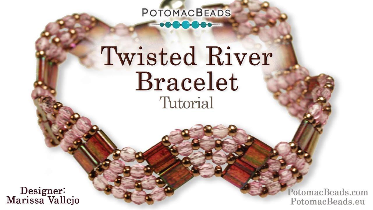Beadweaving 289 - Twisted River Bracelet - YouTube