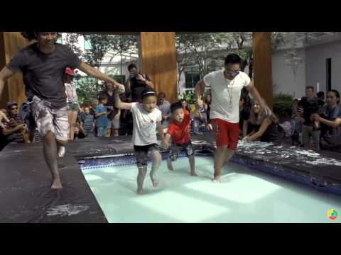 Can You Walk on Water  Non Newtonian Fluid Pool