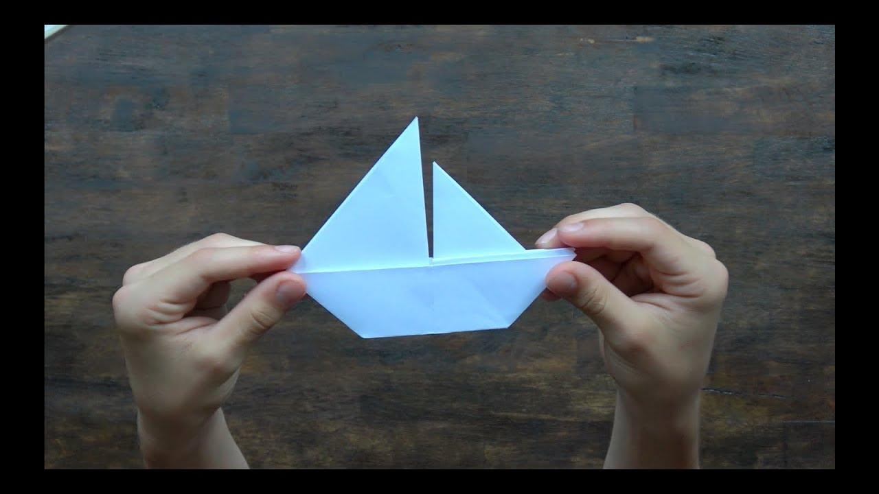 origami boot falten segelboot falten schiff aus papier. Black Bedroom Furniture Sets. Home Design Ideas