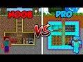 Minecraft NOOB vs. PRO: SECRET BASE in Minecraft!