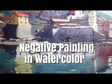 Watercolor Tutorial - Negative Painting in Watercolour - A 'How to' by Tim Wilmot #37