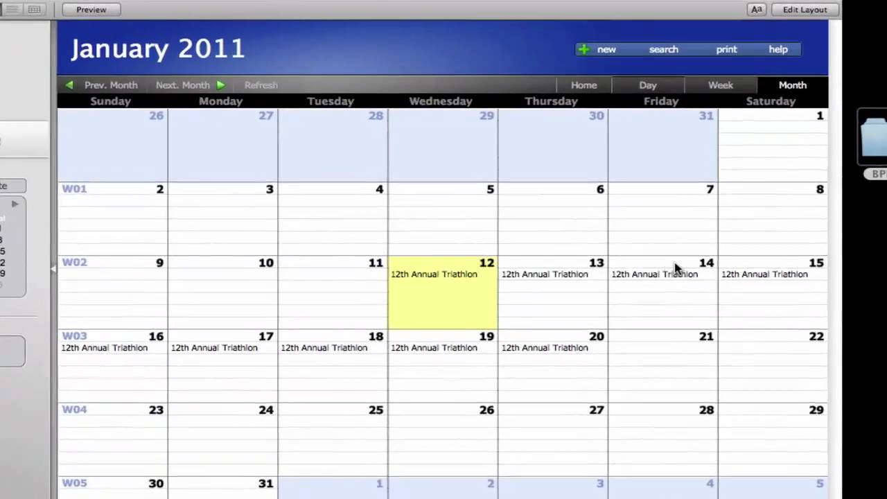 Free Calendrier Our Free Calendar For Filemaker Quick Integration