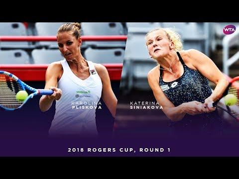 Karolina Pliskova vs. Katerina Siniakova   2018 Rogers Cup Round One   WTA Highlights
