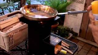 Cooking: Deadwood Stove, Evaluation, Cooking Eggs, Hamburgers And Jalapeno's, Great Stove!