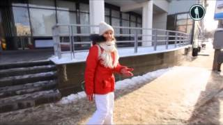 По достопримечательностям Нижнего Новгорода зимой бегом(