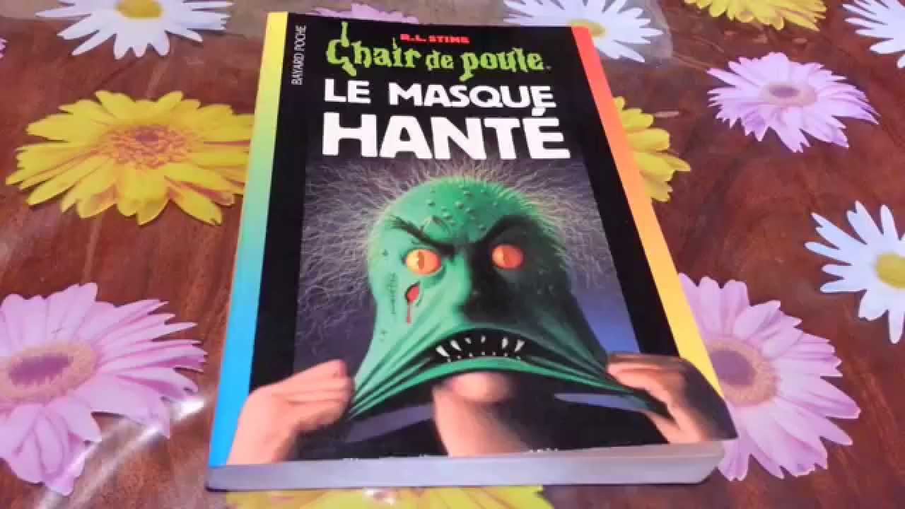 R L Stine Chair De Poule Le Masque Hante Livre Unboxing