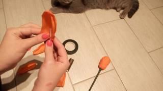 Своими руками - Тюльпан из бумаги / Как сделать тюльпан своими руками(Самый