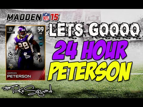 Madden 15 Ultimate Team | 24 HOUR ADRIAN PETERSON | WELCOME HOME
