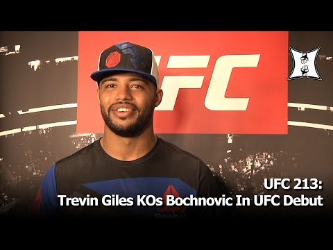 UFC 213: Light Heavyweight Trevin Giles Knocks Out James Bochnovic In His UFC Debut