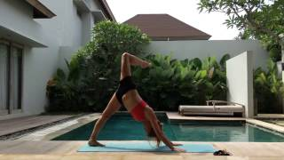 50min Intermediate Shoulder Opening Vinyasa Flow Class with Hana