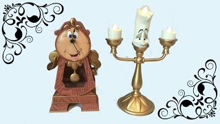 flushyoutube.com-Cogsworth Clock REVIEW  - Beauty and the Beast collectibles