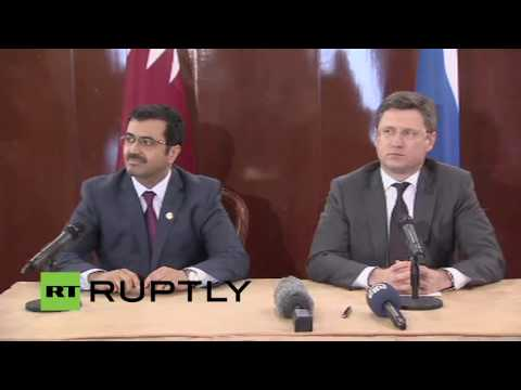 LIVE: Russian Energy Minister Novak and Qatari Energy Minister hold joint presser