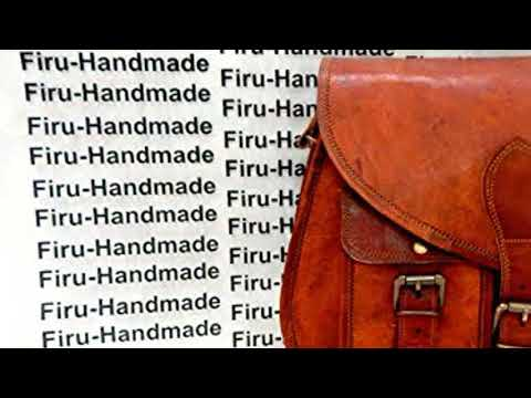 f988105d0c30 Firu-Handmade Women Shoulder Bag Vintage Rustic Retro Style Genuine Brown  Leather Cross body Bag