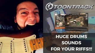 MASSIVE Drum Sounds For Your Riffs!!! - ToonTrack Big Rock Drums EZX Library