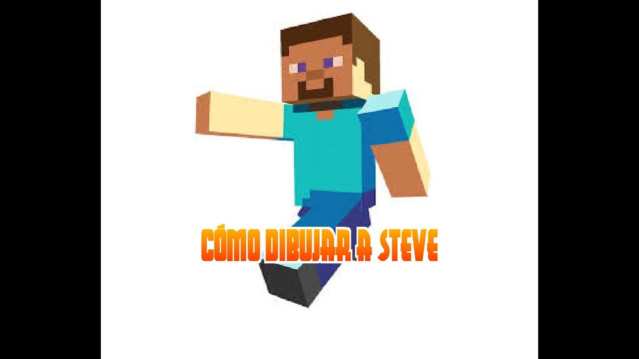 how to draw steve from minecraft 3d