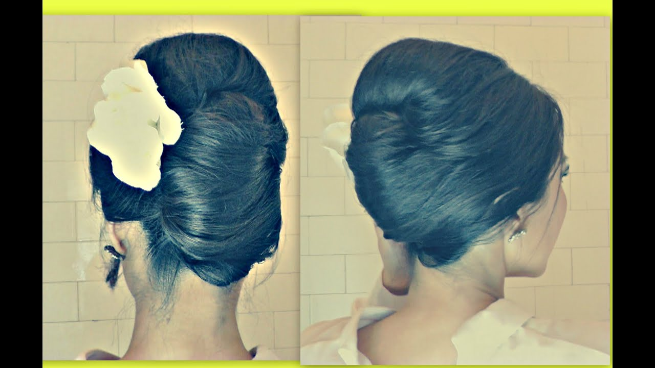 Hair Tutorial Hairstyles With Big Bouffant French Twist Your Own