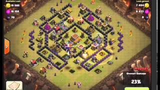 Drawing The Troops Out of The Clan Castle - War Raid - Clash Of Clans