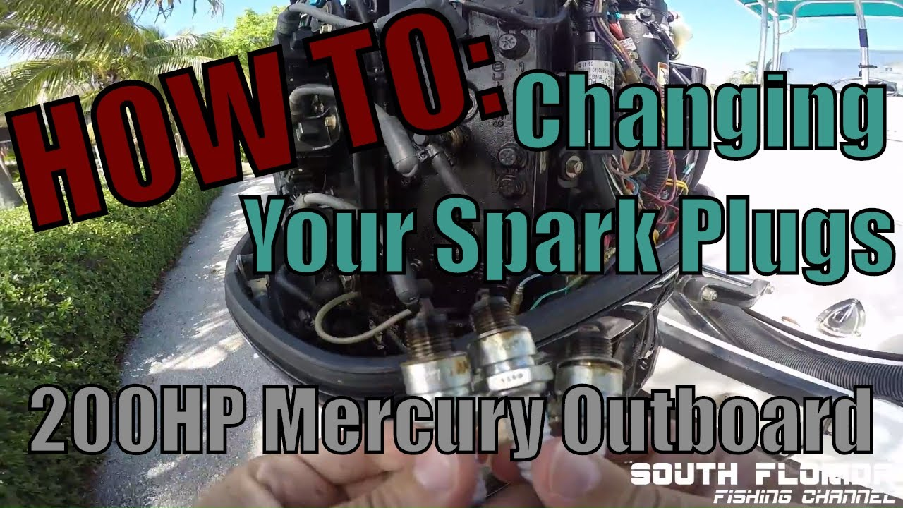 How To Replace Spark Plugs Mercury Outboard Engine Youtube Boat Motor Wiring Diagram