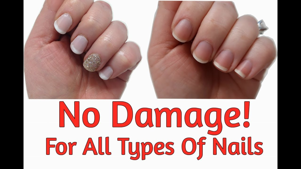 How To Safely Remove Acrylic Gel Or Dip Powder Nails