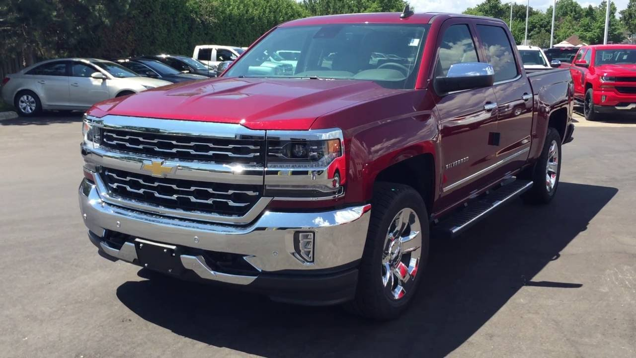 2016 Chevrolet Silverado 1500 Crew Cab Ltz Siren Red Tintcoat Roy Nichols Courtice On