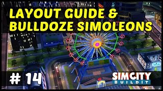 LAYOUT GUIDE & BULLDOZE SIMOLEONS - SimCity BuildIt - Ep14
