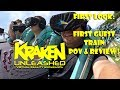 FIRST LOOK: KRAKEN UNLEASHED FIRST EVER TRAIN WITH GUESTS 4K POV & REVIEW SEAWORLD ORLANDO!