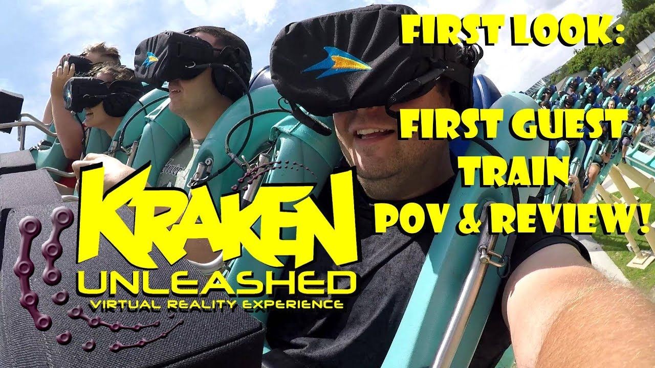 Download FIRST LOOK: KRAKEN UNLEASHED FIRST EVER TRAIN WITH GUESTS 4K POV & REVIEW SEAWORLD ORLANDO!