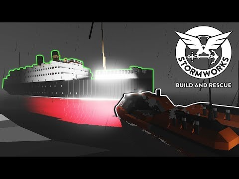 Ghost Ocean Liner Found! - Stormworks: Build and Rescue Gameplay - Sinking Ship Survival