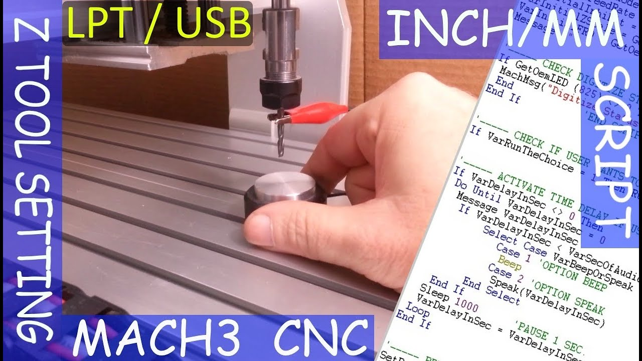 CNC/MACH3 - Tool Setting Touch Plate | Auto Tool Zero (Z Axis) | Includes  INCH/MM Script