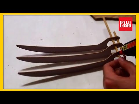 #52: Wolverine Claws DIY - Cardboard (free template)