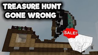 MINECRAFT TREASURE HUNT TAKES A TURN FOR THE WORST AFTER A........ UNDERWEAR SALE?!?