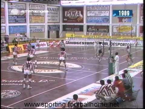 Voleibol :: Leixões - 3 x Sporting - 0 de 1988/1989 Supertaça 2ª Mão