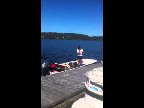 Belleisle Bay, New Brunswick, 1981 Boston whaler sport 15