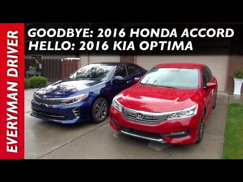 Goodbye: 2016 Honda Accord Sport and Hello: 2016 Kia Optima on Everyman Driver