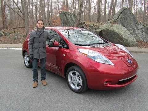Beautiful 2011 Nissan LEAF Electric Car Test Drive U0026 Car Review By RoadflyTV   YouTube