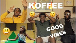 Koffee - Lockdown (Official Video)(REACTION) Good Vibes !!!!!!!!!!!