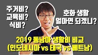 2019 동남아 생활비 비교 ㅣ 발리 vs 치앙마이 vs 호치민ㅣ 🇮🇩🇹🇭🇻🇳 어느 나라 물가가 가장 저렴할까요?