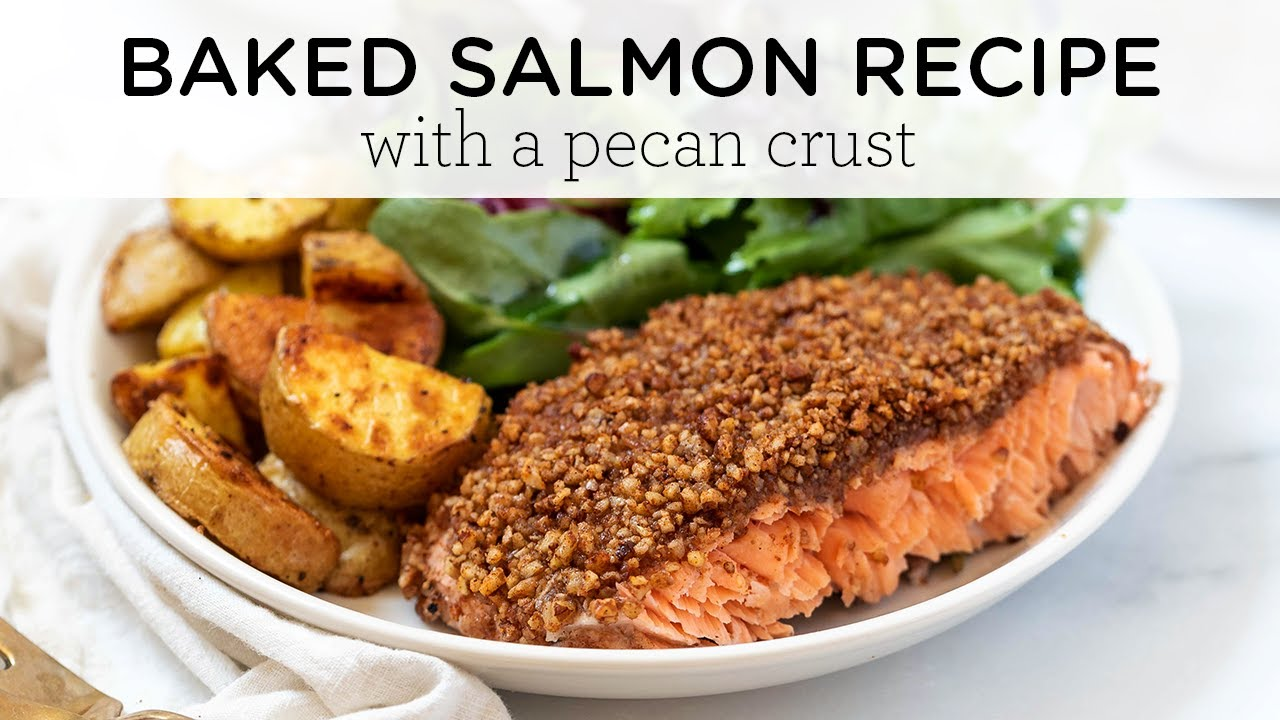 EASY BAKED SALMON RECIPE ‣‣ healthy weeknight dinner