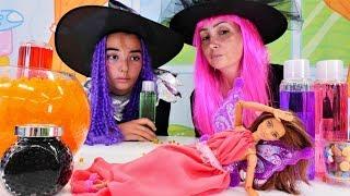 Cadı Özge ve Mina ile sihir yapma oyunları!