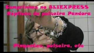 Comprinhas no AliExpress -  Réplica da pulseira Pandora