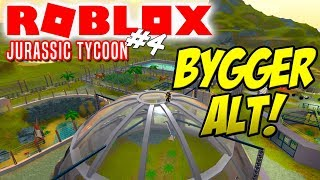 BUILDS EVERYTHING! -Roblox Jurassic Tycoon English Ep 4