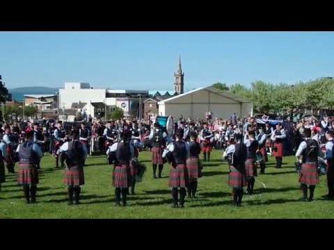 Field Marshal Montgomery Pipe Band - Ards & North Down Championships 2016 - Medley