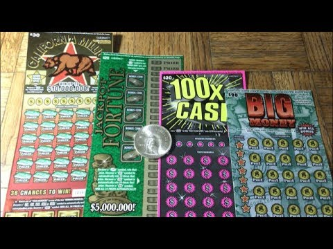 $90 Session!! BIG MONEY JACKPOT FORTUNE 100X THE CASH CALIFORNIA MILLIONS California Lottery Tickets