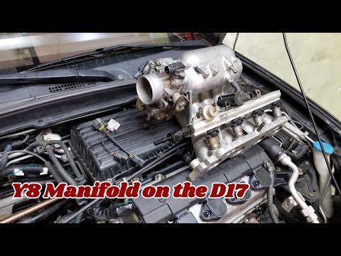 D16Y8 Intake manifold install on a D17 with an AWD EM2 surprise in the mail