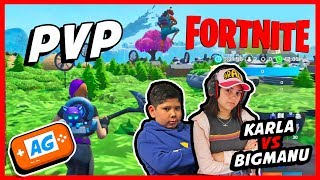 FORTNITE PVP KARLA ART VS BIG MANU PRO en el mapa de la temporada 9